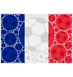 France soccer balls vector