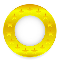 golden ring golden circle with stars vector image