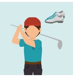 golf equipment design vector image