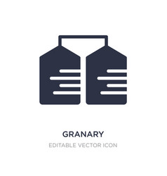 Granary icon on white background simple element vector