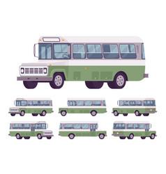 green retro bus vector image