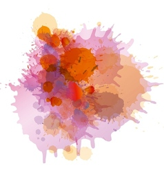 Grunge colorful paint splashes vector