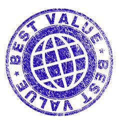 Grunge textured best value stamp seal vector