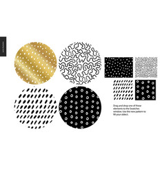 hand drawn patterns - rounded vector image
