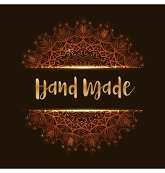Hand made mandala vector