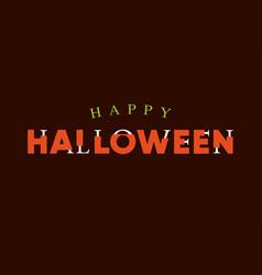 Happy-halloween-title-logo-with-bones-lettering vector