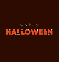 happy-halloween-title-logo-with-bones-lettering vector image