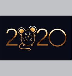 Happy new year 2020 logo text design vector