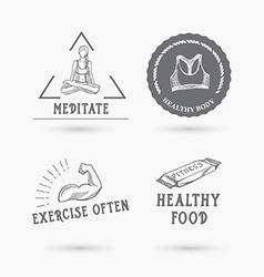 Healthy life icon design vector image