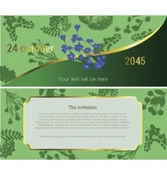 Invitation to the flower market vector