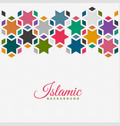Islamic pattern background in colorful style vector