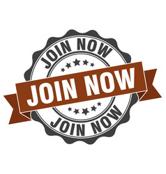 Join now stamp sign seal vector