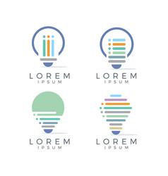 Lamp logo set vector