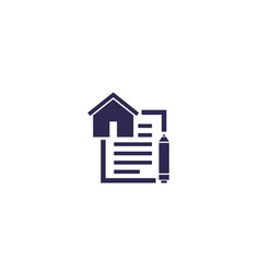 Lease contract icon vector