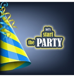 Lets start party holiday banner vector