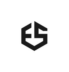 letter e s monogram logo designs inspiration vector image