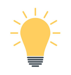 light bulb icon idea sign solution thinking vector image