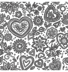 Love hearts seamless pattern 5 vector image