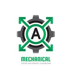 mechanical letter a - logo template concept vector image