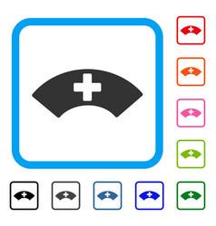 Medical visor framed icon vector