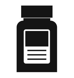 Medicine bottle icon simple style vector