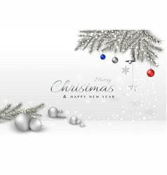 Merry christmas decorative design with xmas balls vector