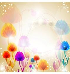 multicolor flower background vector image