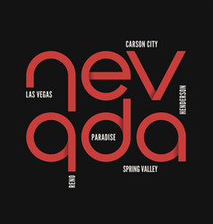 nevada state t-shirt and apparel design vector image