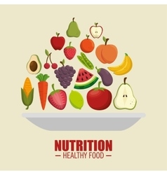 nutrition healthy food symbol vector image