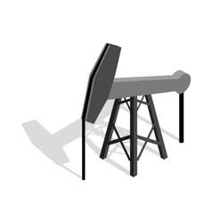 Oil pump icon isometric 3d style vector