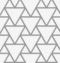 Perforated big and small triangles vector