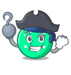 Pirate circle character cartoon style vector