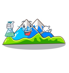 Professor miniature mountain in the character form vector