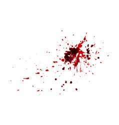 red blood splatters watercolor splatters vector image