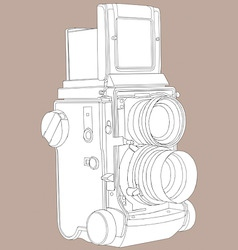 Reflex film camera vector