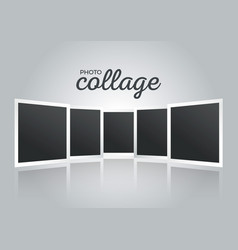 Retro photo frames collage vector