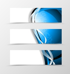 Set of header banner digital design vector image