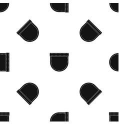shirt pocket pattern seamless black vector image
