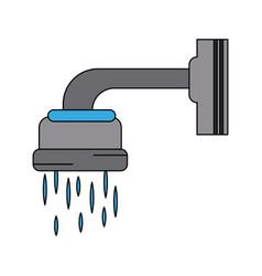 Shower faucet open vector