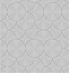 Slim gray striped overlapped circles random vector