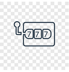 slot machine concept linear icon isolated on vector image