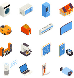 Smart Home Technology Isometric Icons Collection vector