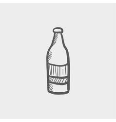 Soda bottle sketch icon vector image