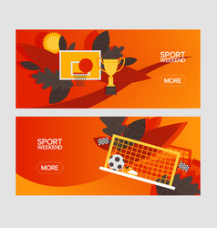 sport weekend athletic game in brazil design vector image