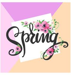 Spring purple flower purple background imag vector