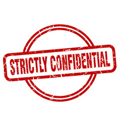 Strictly confidential grunge stamp strictly vector