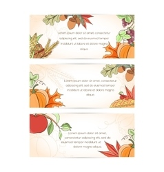 Thanksgiving holiday banner vector
