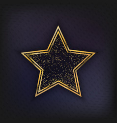 Walk fame star isolated vector