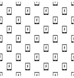Warning phone pattern vector