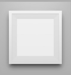 White square picture frame mockup with shadow vector